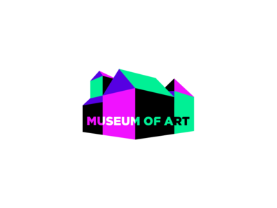 Museum Of Art branding logo flat vector