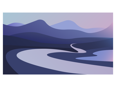 Landscape illustration flat vector