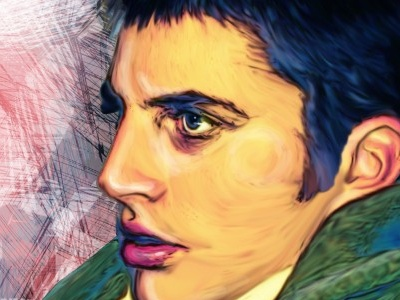 Somebody that I used to know... illustration wacom photoshop portrait colorful strokes