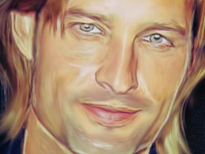 Sawyer sawyer lost portrait digital painting illustration colorful strokes