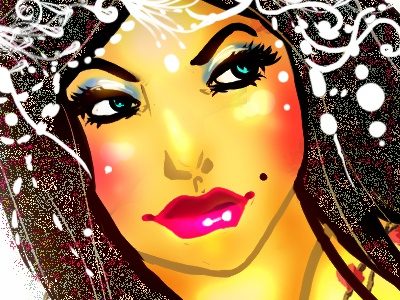 Bollywood bollywood colorful doodle cartoon texture open canvas illustration rough