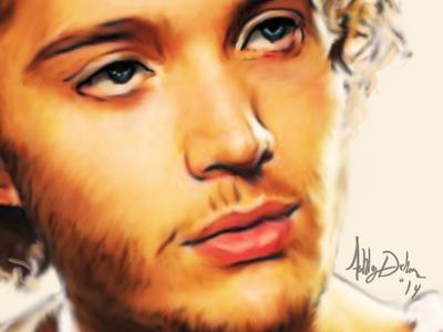 Francis photoshop wacom reign illustration painting colors brushwork toby regbo