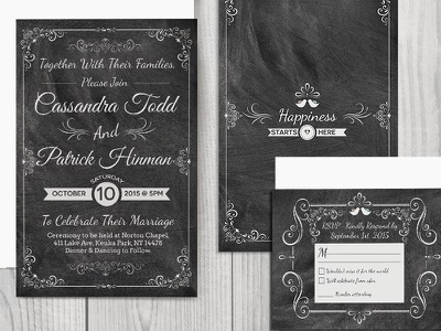 Wedding Invitations stationary 5x7 photoshop print wedding invitations