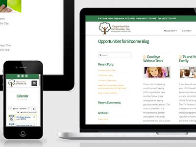 Opportunities for Broome redesign website wordpress responsive