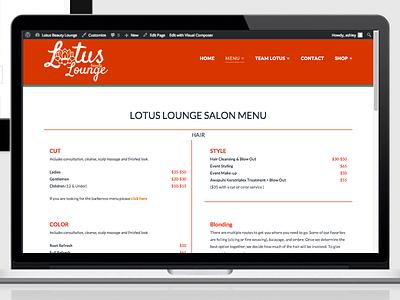 Lotus Beauty Lounge  design website wordpress responsive