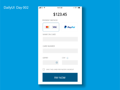 DailyUI Day 002 - Credit Card Checkout Page