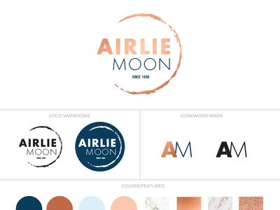 Airlie Moon Re-Branding branding logo