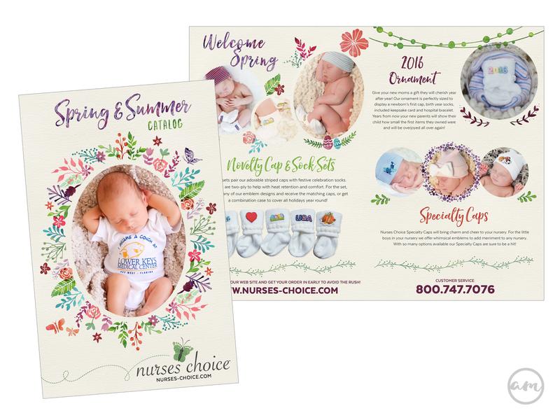 Nurses Choice Spring Catalogue print design