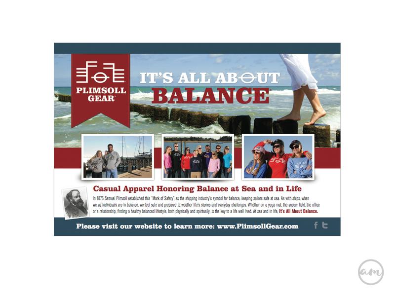 Plimsoll Gear Postcard print branding design