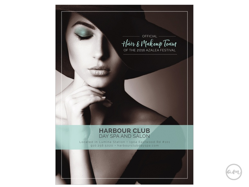 Harbour Club Day Spa Ad print branding design