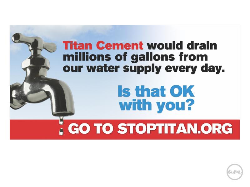 Stop Titan Billboard billboard design