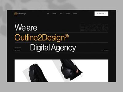 O2D Digital Agency Website responsive testimonials homepage figma aftereffects portfolio minimalistic logo vector agency branding animation webdesign design ux ui