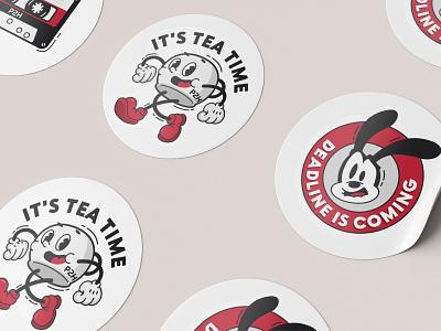Stickers for P2H company cartoon motion graphics animation graphic design stickers webdesign design logo branding illustration ui