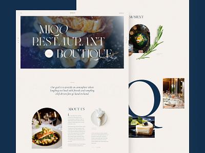 Restaurant Homepage grid restaurant food homepage ux design webdesign outline2design logo branding ui