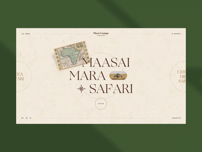 Mara Camp Safari Travel website typography agency brand graphic design icon case homepage motion graphics behance safari animation travel webdesign vector branding logo ux ui