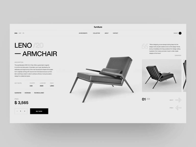Leno Product Page Design product page design o2d webdesign furniture style branding design ux ui
