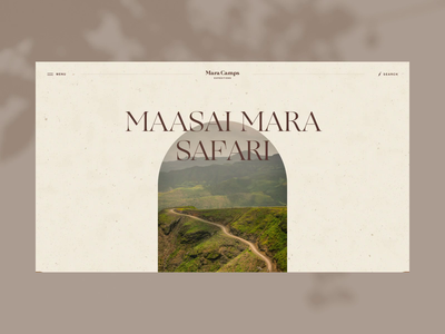 Mara Camps Safari Menu motion graphics travel webdesign web graphic design safari africa inspiration logo illustration branding o2d design ux ui