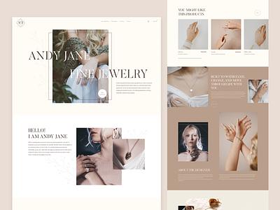 Jewelry Homepage concept homepage homepagedesign graphic design creative designerwork animation inspiration beauty jewellery logo branding o2d webdesign design ux ui