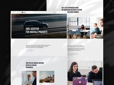 Custom Production Website inspiration creative graphic design logo branding o2d webdesign design ux ui