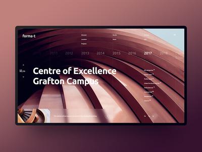 Forma-t website design building architecture ux ui design webdesign outline2design o2d concept