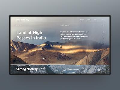 Land of High Passes in India nature ux ui design webdesign outline2design o2d concept