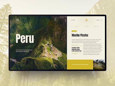 Peru design concept peru nature travels ux ui design webdesign outline2design o2d concept
