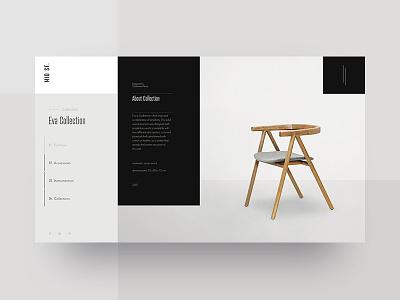 Mid SF Collection black white furniture ux ui design webdesign outline2design o2d concept