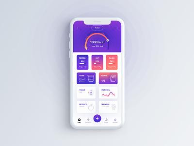 Diet app diet o2d ui ux app mobile design outline2design
