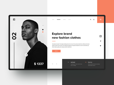 Fashion clothing store ux ui outline2design webdesign illustration design concept clothes fashion minimalism