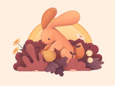 Fluffy Bunny o2d outline2design webdesign ux ui design concept colour illustration