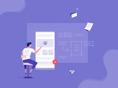 Happy tester's day! illustration o2d outline2design webdesign ux ui design holiday qa tester