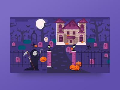 Happy Halloween! card halloween outline2design o2d webdesign design ux ui