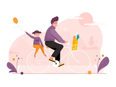 Father's Day concept illustration outline2design o2d concept outline2design o2d design