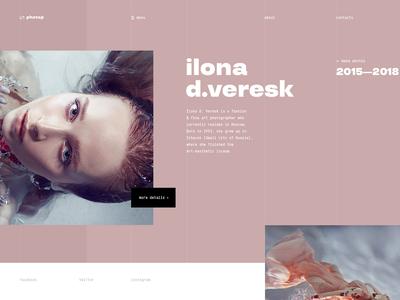 Photographers typography branding agency concept outline2design o2d concept webdesign outline2design o2d design ux ui