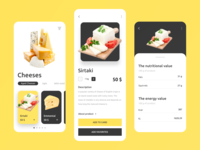 Mobile app - Cheeses