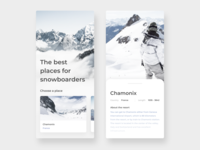 Mobile app - The best places for snowboarders