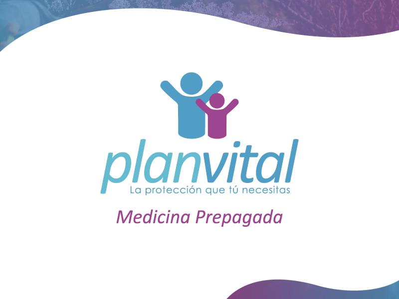 Plan Vital health brand icon logo design branding