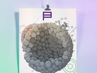 Poster 3d particles