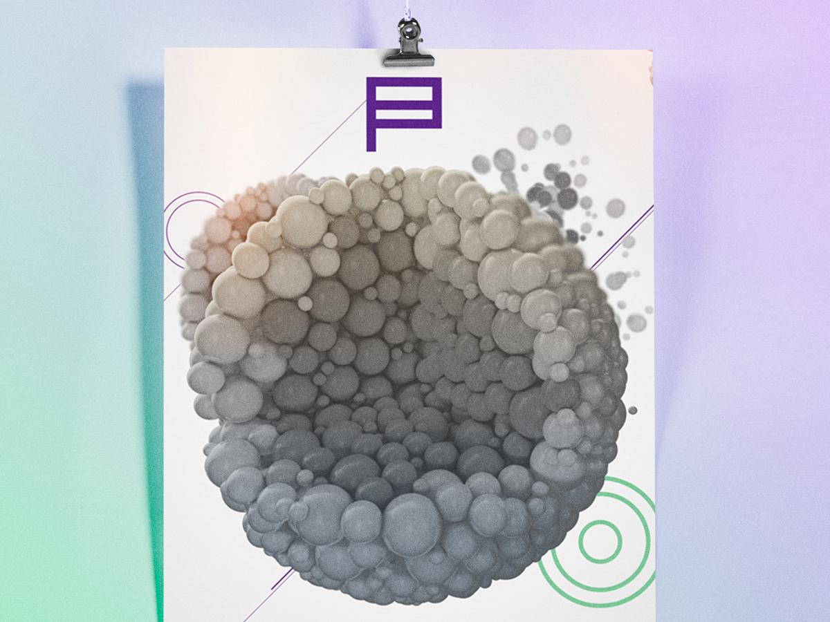 3D Particles digital poster particles render cinema 4d 3d