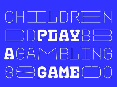 Plastic typeface