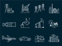 GE Industry & Energy Consumption Icons