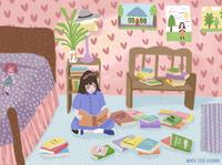 Matilda (1996)/ Matilda and her books