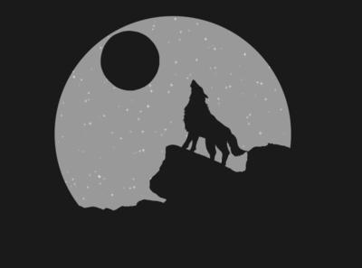 Howling wolf logo animal art art effect design photoshop adobe wolf logo animal wolf