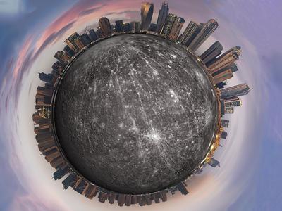 City on Mercury distort distortion filter effects art effect design photoshop adobe city planet mercury