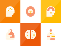 Icon illustrations for counselling theories
