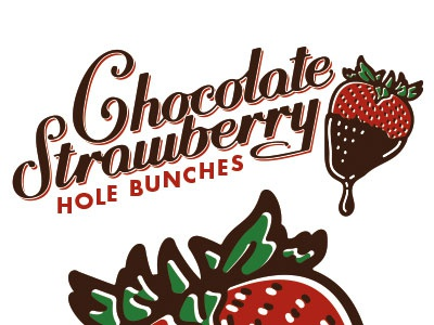 Chololate Strawberry Hand Drawn Type