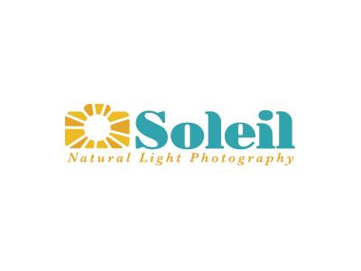 Soleil Photography Logo logo sun color typography camera photography