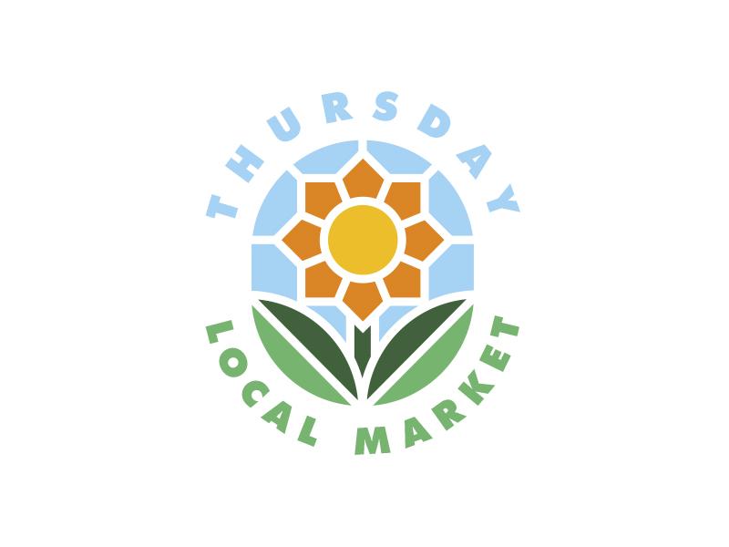 Thursday Local Market Logo logo identity flower illustration color