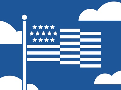 One Color Flying Flag