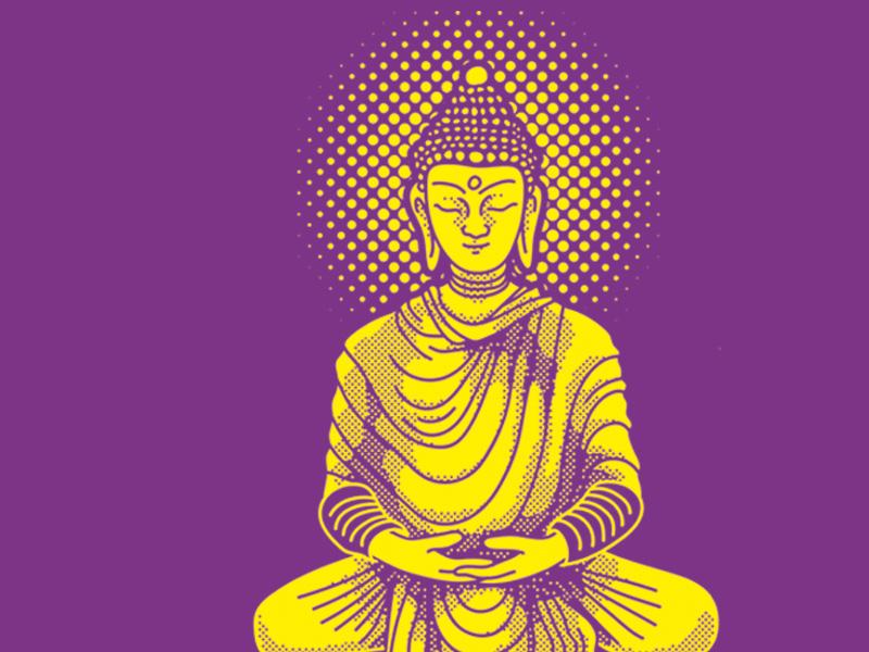 Buddha 2 illustration buddha color dots halftone